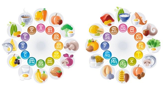 función de vitaminas y minerales